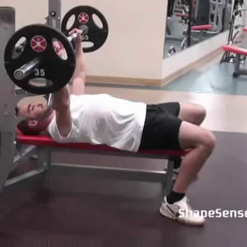 An image of a man performing the bench press exercise.