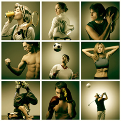 an image of people performing various athletic activities