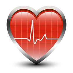 image of a heart icon with a cardiogram line going through it