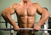 a thumbnail image of a muscular man performing a barbell upright row exercise