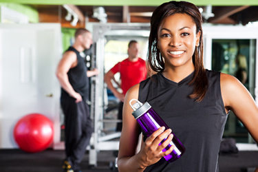 image of a woman at the gym